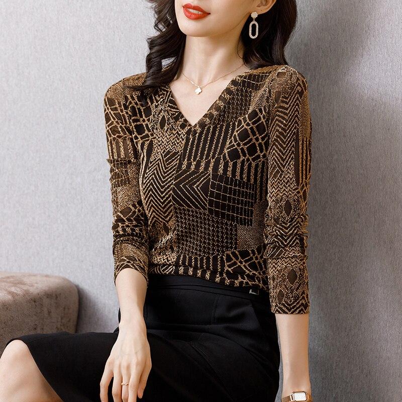 COIGARSAM-Camiseta de manga larga para mujer, ropa de talla grande 3XL, con...