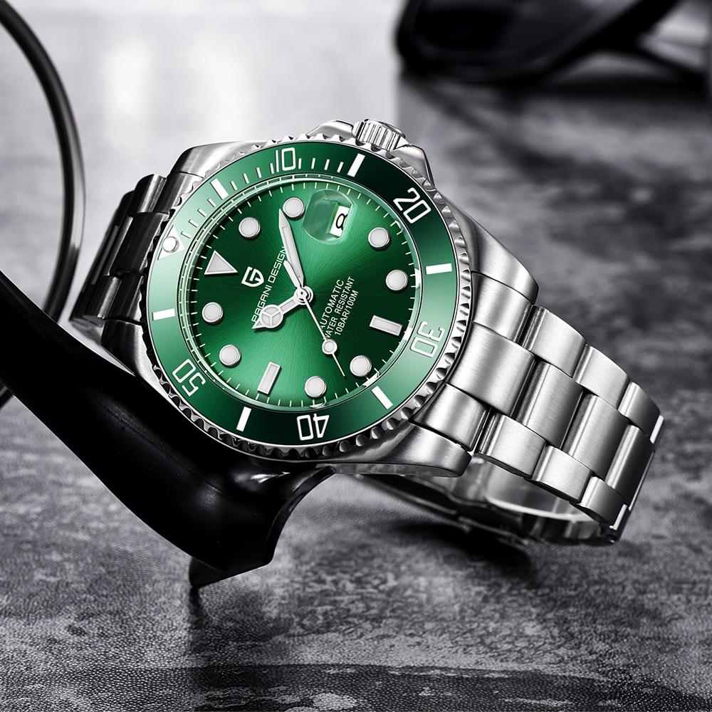 Reloj de pulsera mecánico PAGANI de diseño para hombre, de acero inoxidable, resistente al agua, deportivo, de negocios, de lujo, para hombre, reloj automático