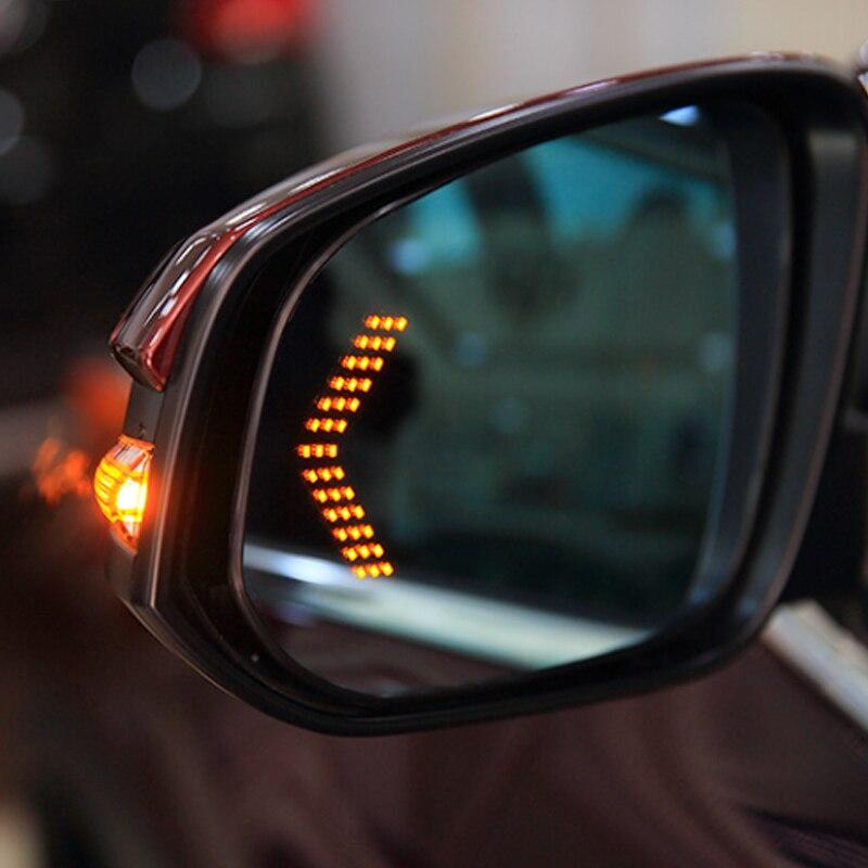 2 uds coche trasera LED de la luz del espejo para Audi A3 8L 8P A4 B6 B7 B8 A6 C5 C6 4F RS3 Q3 Q7 TT