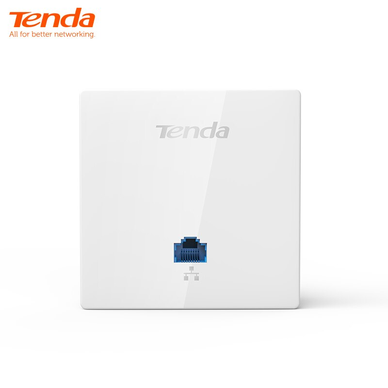 Tenda W6-S repetidor extensor WiFi AP inalámbrico punto de acceso WiFi de 300Mbps, montaje en pared interior estándar 86*86mm diseño de Panel
