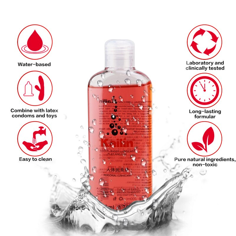 200ml fruit flavor lubricant grease for sex anal lube gel Vagina lubrication water based oil lubricante sexual Silk Touch
