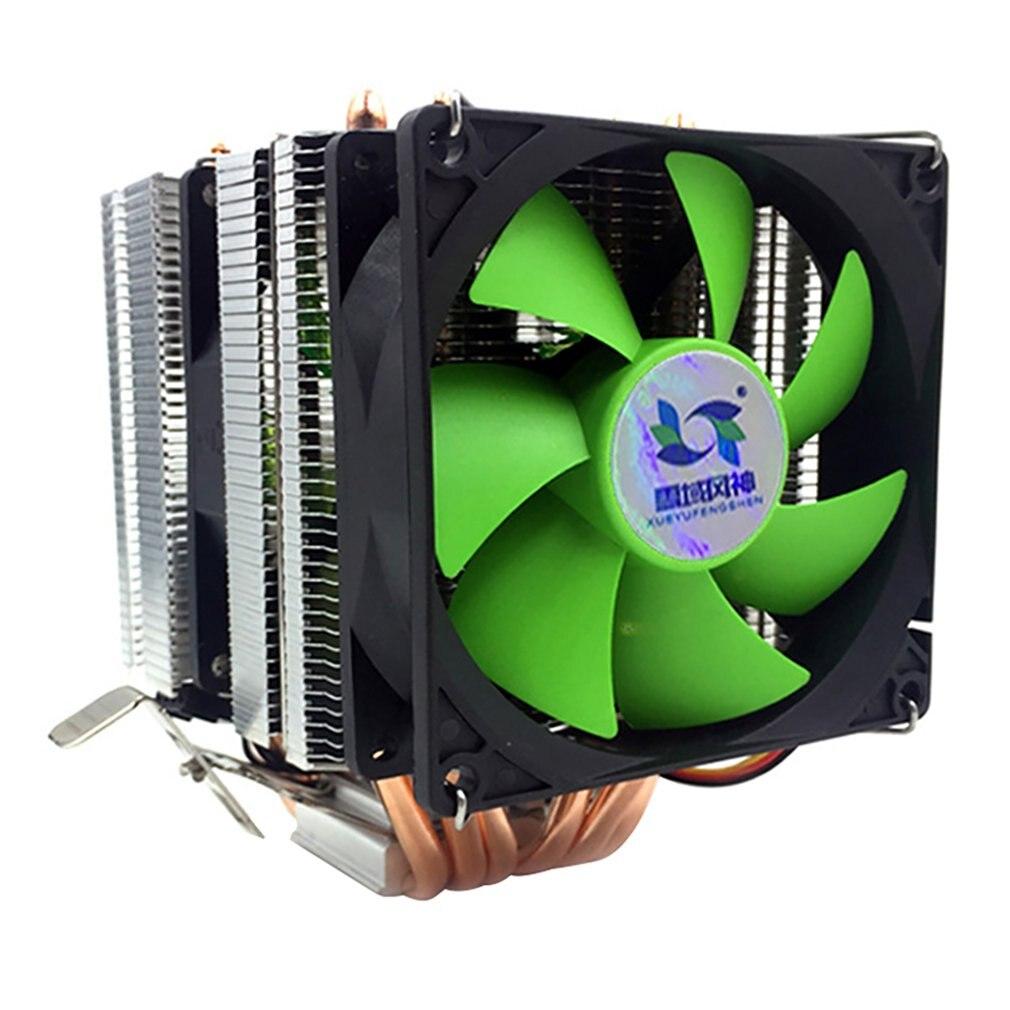 Disipador térmico de CPU con 6 tubos de calor de 3 líneas AVC Pure Copper AMD 1155 1156, Enfriador de CPU de escritorio, velocidad constante, viento Doble