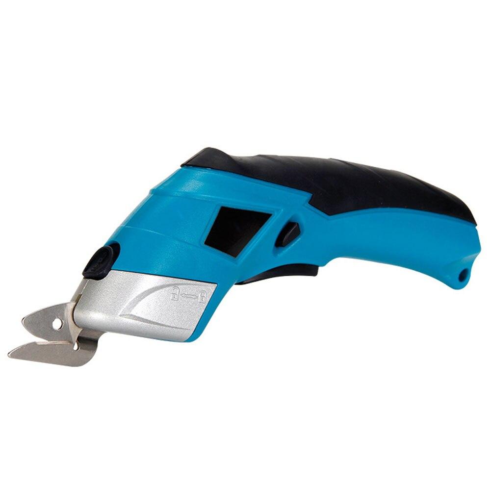 بطارية ليثيوم مقص الطاقة الكهربائية 4 فولت النسيج الكهربائية القاطع USB شحن مقص للجلود خلفية السجاد