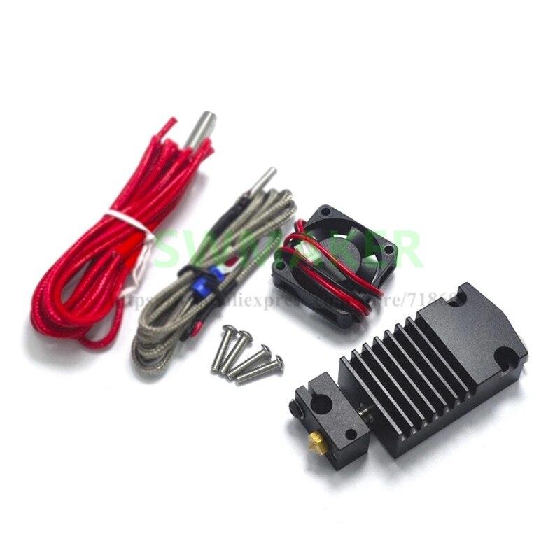 Peças de Impressora 3D E3D 2 Em 1 Fora Hotend Extrusora Única Cabeça Dupla Cor com Cabos
