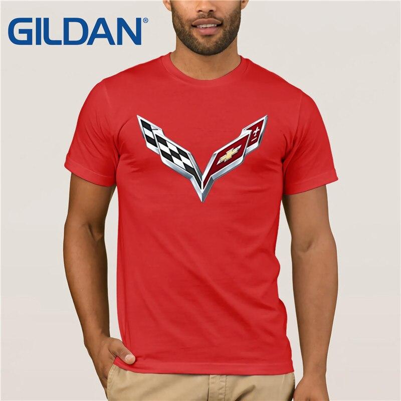 Camiseta negra para hombre con Logo de Corvette de General Motors