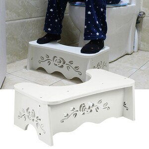 7 inch Toilet Squatting Stool Non-slip Toilet Footstool Anti Constipation Stools Portable Step for Home Bathroom Toilet Stool