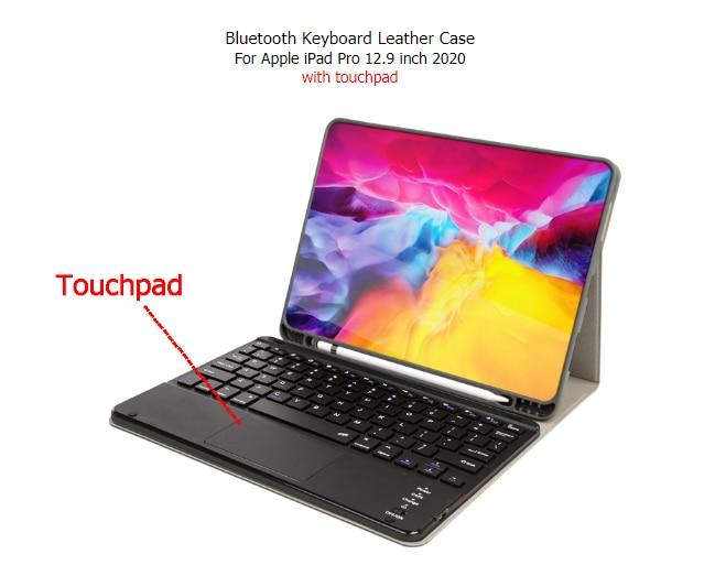 para Ipad Pro Case de Teclado com Touchpad Bluetooth para Ipad Caneta Slot Magnético Destacável Teclado Bluetooth 12.9 Polegada 12.9in 2021