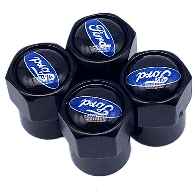 4 pçs tampas de válvula ar do carro para ford fiesta ecosport escort foco 1 foco 3 foco 2 acessórios estilo do carro
