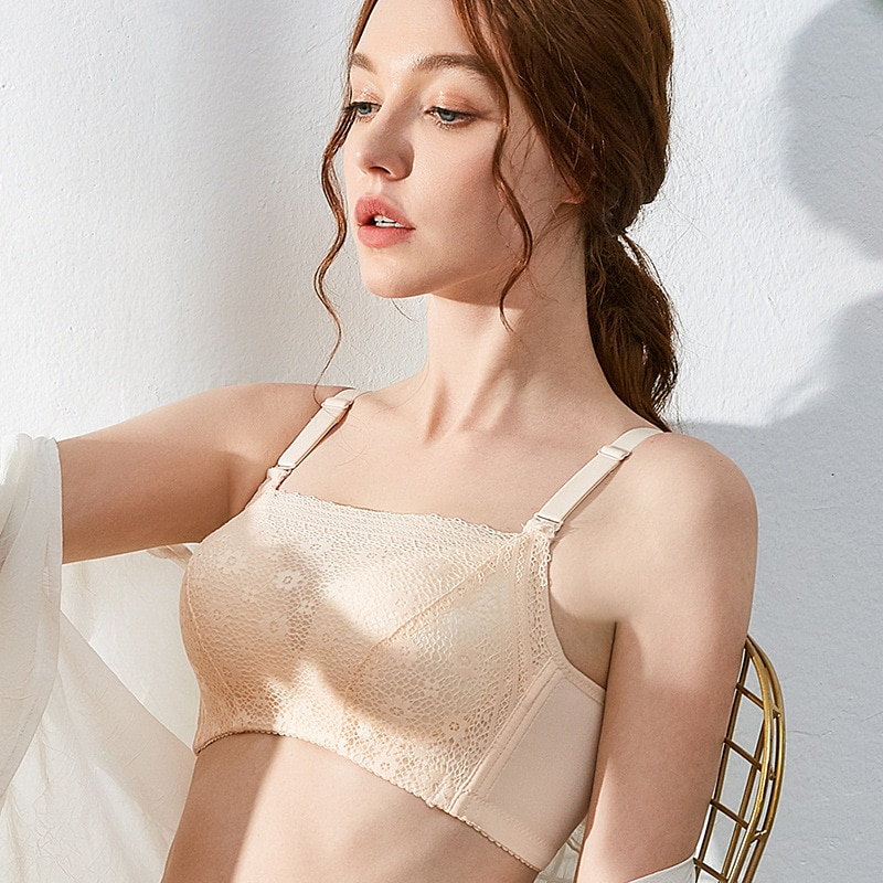 662 # in front of the double net yarn, exposed more worry ~ no rims together strapless bra summer