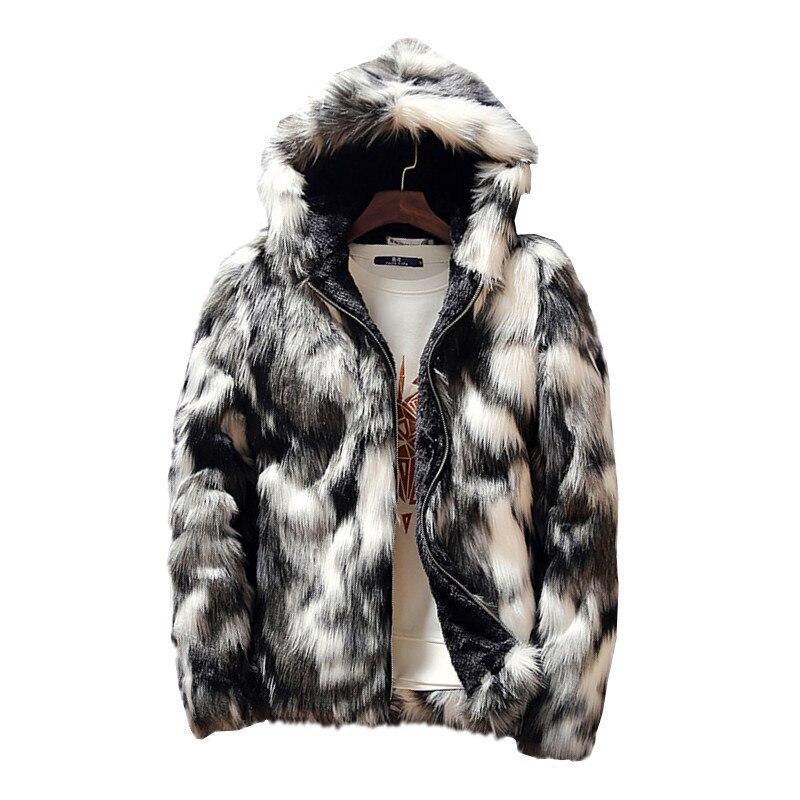 Inverno de pele do falso grosso dos homens jaquetas & casacos moda masculino e feminino casais roupas quentes e confortáveis fino cinza casaco masculino S-3XL