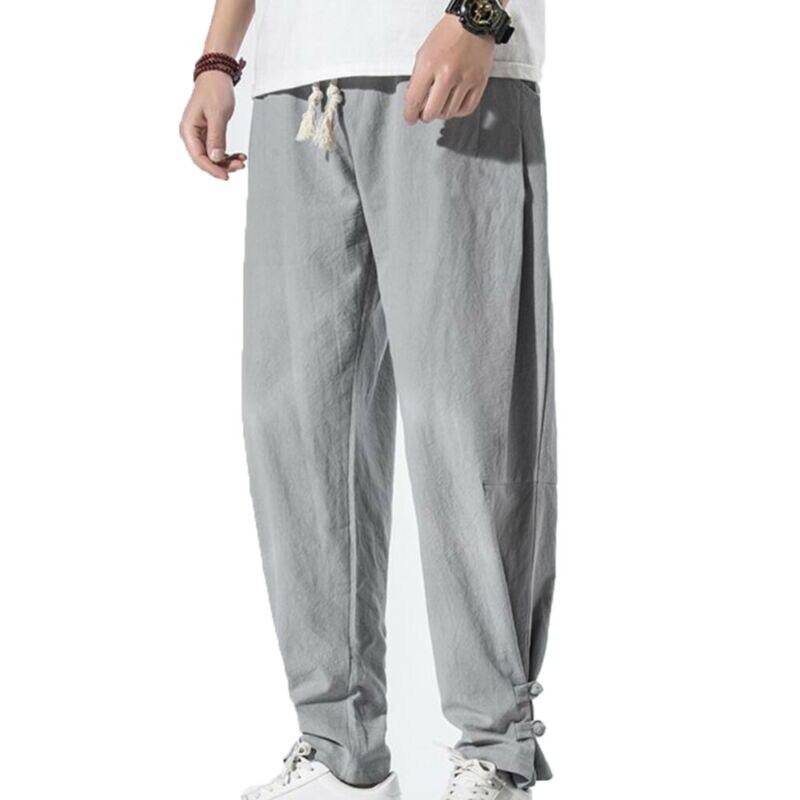 Plus Size Mens Fashion Clothing Summer Men Harem Trousers Casual Baggy Bottoms Long Pants Men Pants