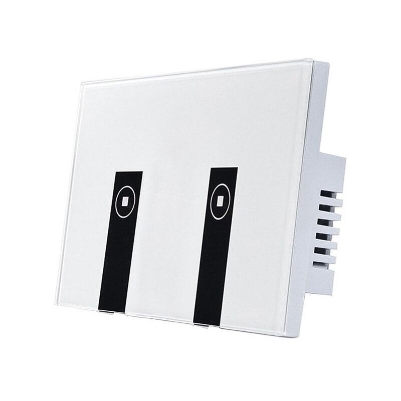 واي فاي مفتاح إضاءة ذكي ، 2 مفاتيح لوحة الحائط التي تعمل باللمس اليكسا مفتاح الإضاءة ، في الجدار اللاسلكية تشغيل/إيقاف الجدار التبديل ، توقيت ...