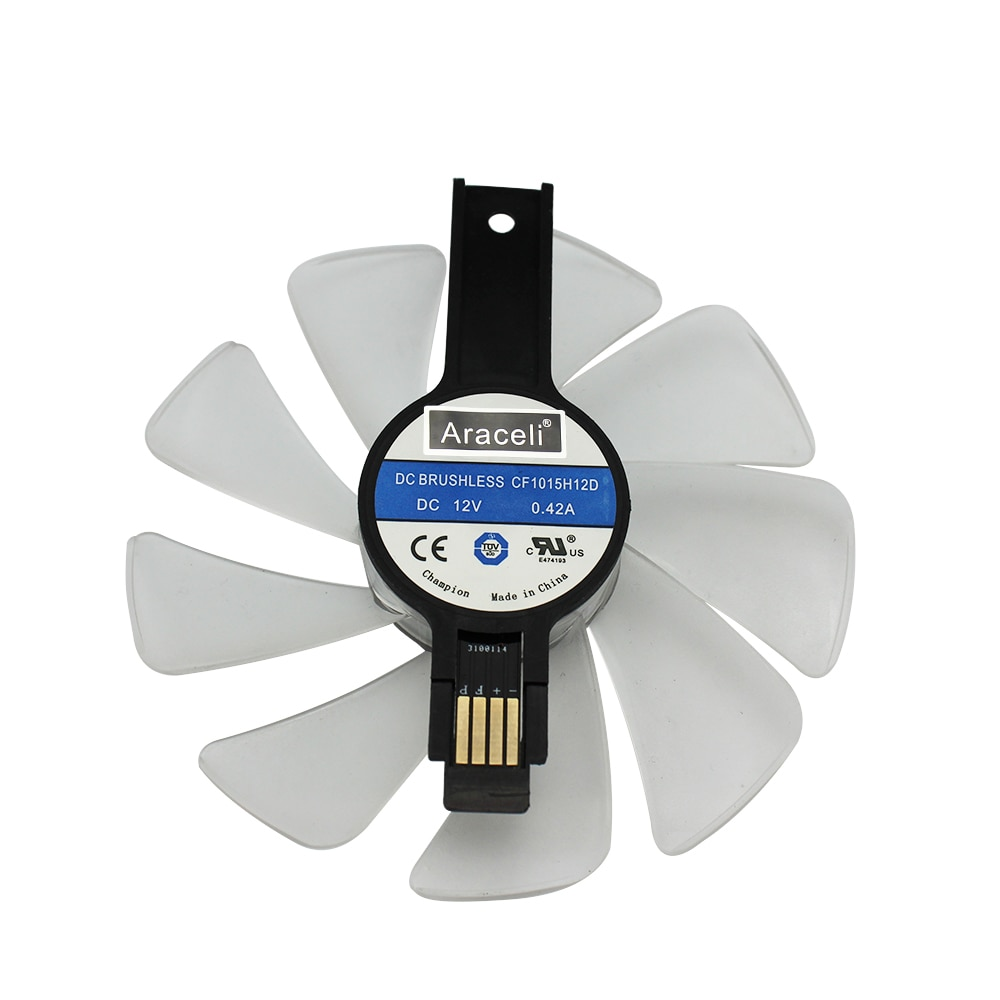 95mm CF1015H12D DC12V Cooler Fan Replace for Sapphire NITRO RX480 8G RX 470 4G GDDR5 RX570 D5 RX580 OC enlarge