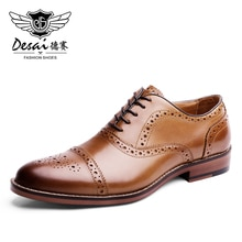 Desai Pointed Toe British Style Oxfords Men Dress Shoes Genuine Leather Imported Turkey 2020
