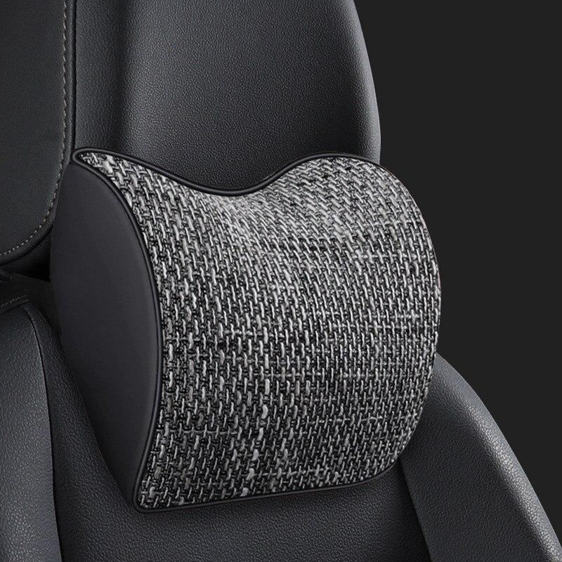 Артефакт для сиденья из хлопка с памятью, 1 шт., подушки для автомобиля на шею и подголовник, маленькие, Travesseiro, всесезонные автомобильные акс...