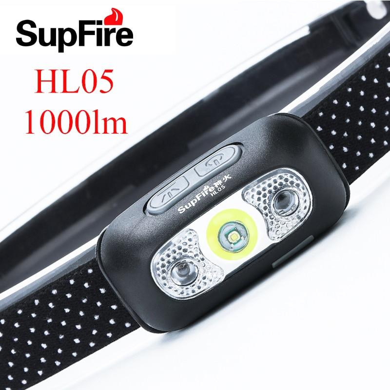 Supfire налобный фонарь светодиодный светильник для вспышки Linterna USB налобный светильник фонарь для налобного фонаря Lanterna HL05 налобный светильн...
