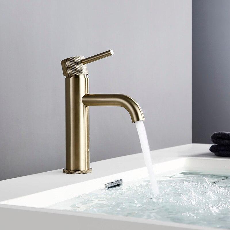 Bagoloux-صنبور حمام من النحاس المطلي بالذهب المصقول ، صنبور دائري مع ثقب للمياه الساخنة والباردة ، للحمام أو الفندق ، موفر للمياه