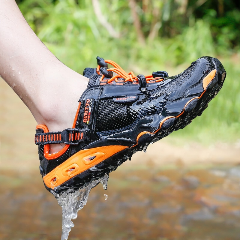HUMTTO-أحذية صيفية للرجال والنساء ، أحذية فاخرة مسامية ، أحذية غير رسمية للشاطئ