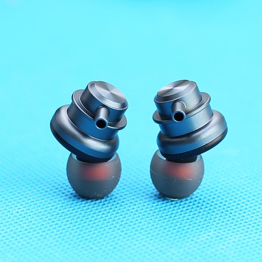 DIY Earphone Housing for 13.5mm In Ear Speaker Unit Matting Alloy Metal Earphone Shell Case for Piez