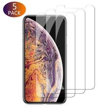 5Pcs High Clear Scratch-proof Tempered Glass Screen Protector On For iPhone XS Max/XR/XS/7/8/6 Phone