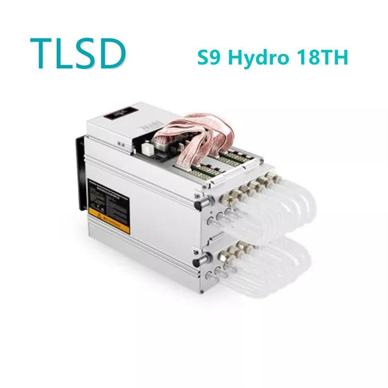 TLSD تستخدم Bitmain Antminer S9 هيدرو 18TH انخفاض استهلاك الطاقة Asic عامل منجم