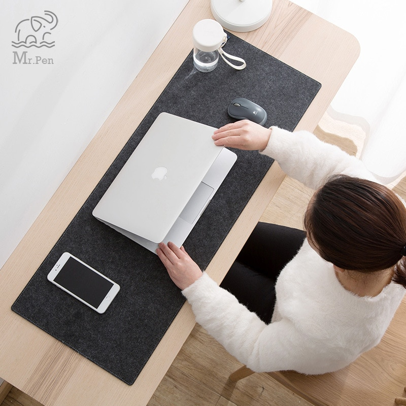 Large XXL Office Computer Desk Mat Table Keyboard Big Mouse Pad Wool Felt Laptop Cushion Desk Non-slip Mat Gamer Mousepad Mat