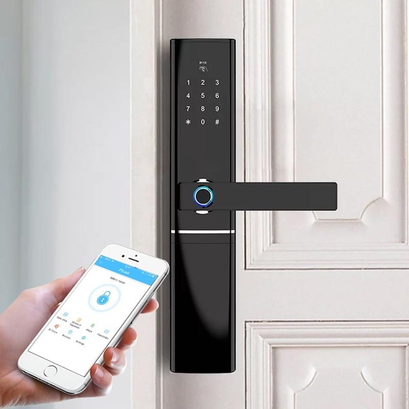 Promo waterproof Bluetooth Wifi fingerprint smart lock ,Electronic Intelligent Biometric Door Lock
