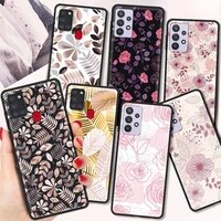 luxury wildflowers silicone tpu cover for samsung galaxy a12 a21s a51 a71 a32 5g a21 a31 a41 phone case luxury coque shell