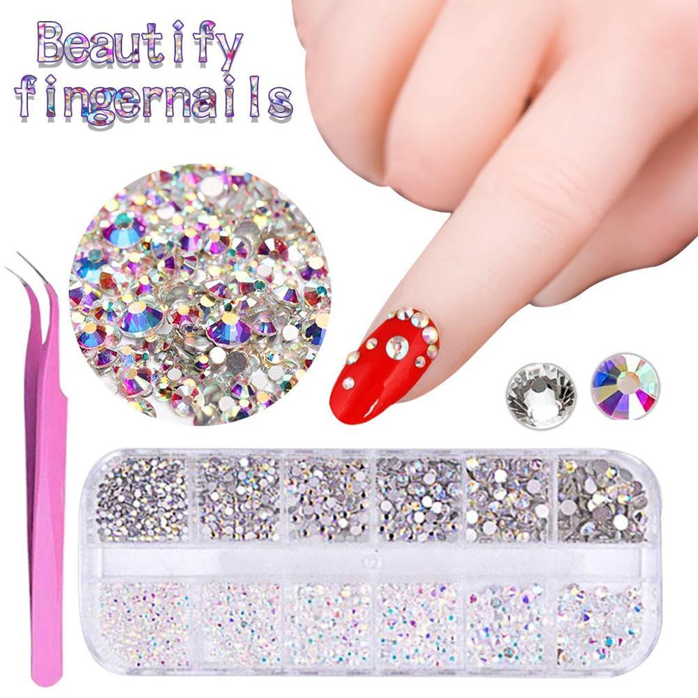 Marca las uñas decoraciones cristales pegamento de uñas diamantes de imitación uñas...