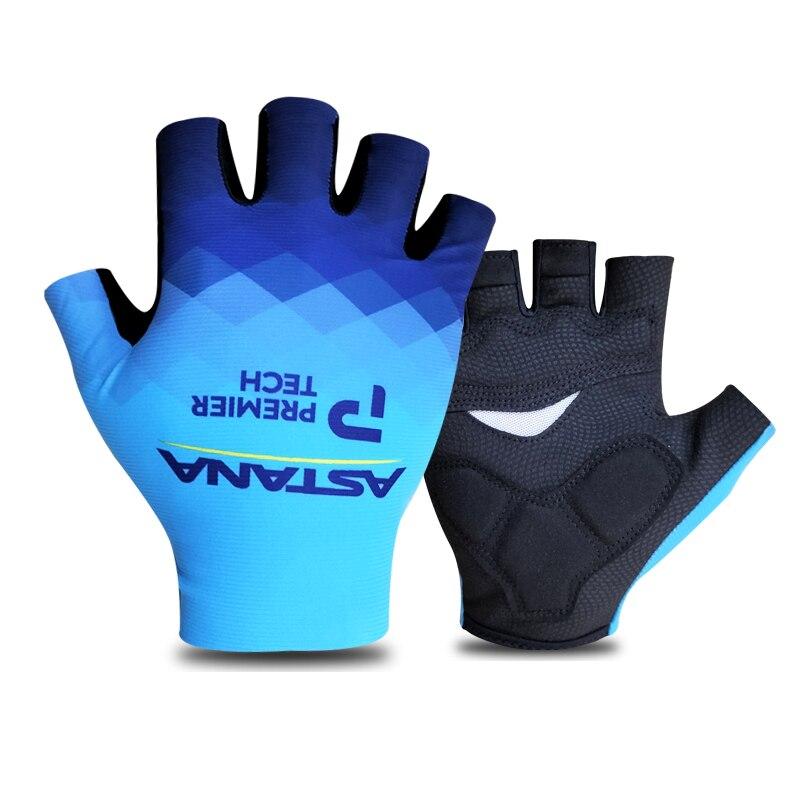 Astana-guantes de Ciclismo de equipo profesional, guantes de Gel para bicicleta de...