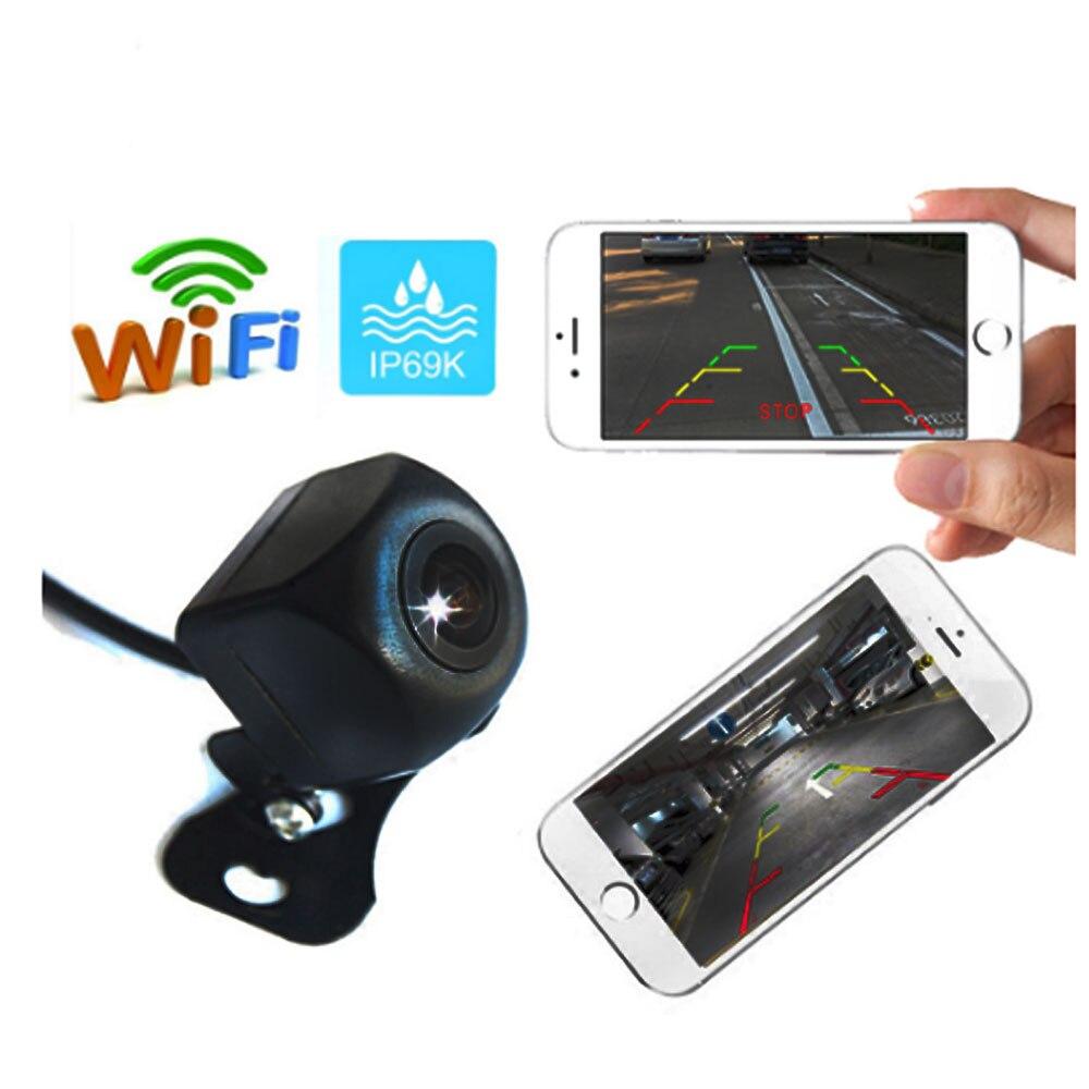 BYNCG coche inalámbrico cámara de visión trasera WIFI cámara de marcha atrás Dash Cam HD Visión Nocturna Mini cuerpo tacógrafo para iPhone y Android
