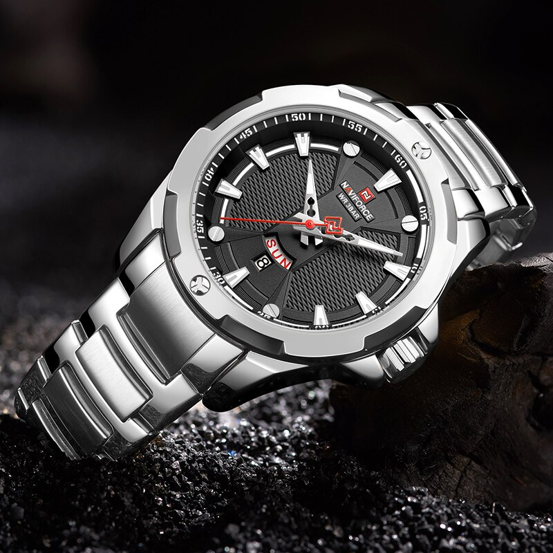 Relojes de cuarzo para hombre de moda NAVIFORCE, reloj deportivo de marca de lujo, reloj deportivo para hombre, reloj impermeable, informal, para hombre, reloj Masculino