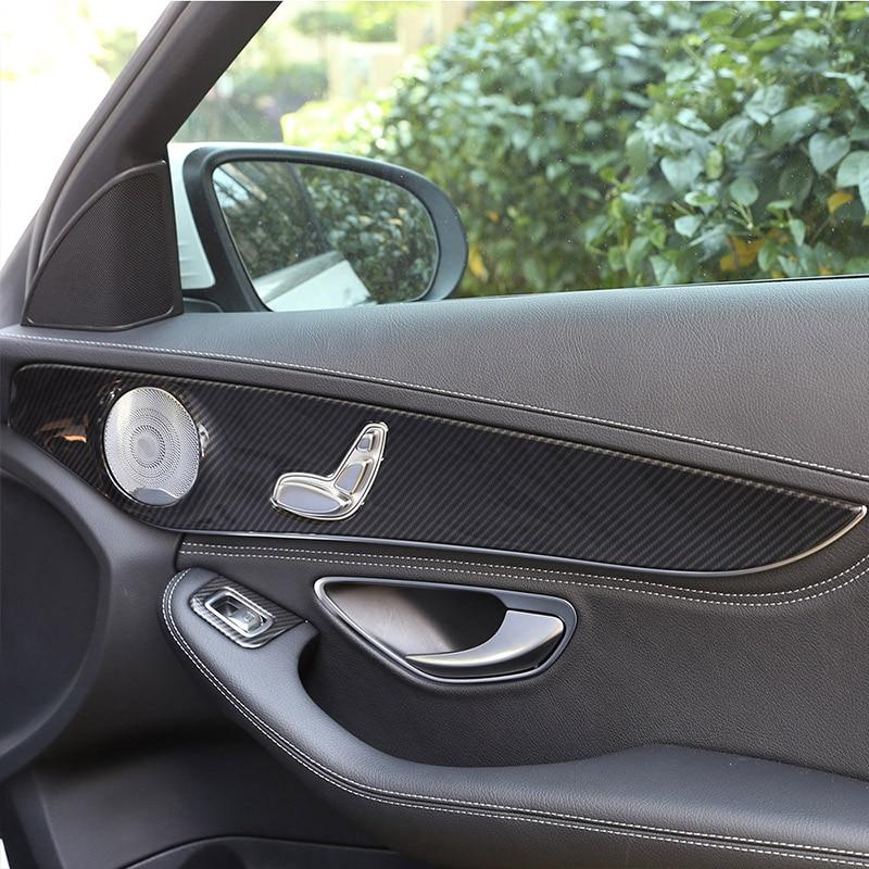 For 2015-2021 Mercedes-Benz C-Class GLC W205 C180 ABS inner door decorative panel cover trim automotive interior accessories enlarge