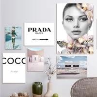 Affiche murale de mode pour femmes  Surf sous-marin  Sexy  toile dart  citation de beaute  peinture dimages murales  decor de maison moderne