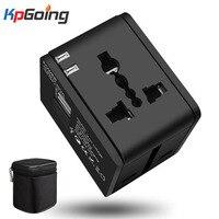 Международная универсальная двойная розетка USB конвертер многофункциональное портативное зарядное устройство для путешествий адаптер пи...