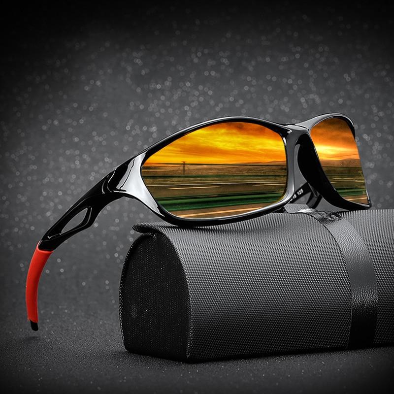 2020 New Polarized Sunglasses Men Brand Designer Square Sports Sun Glasses for Men Driving Fishing B