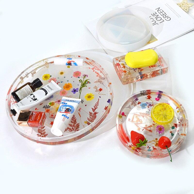 Коробка для мыла, силиконовая форма, «сделай сам», прозрачная эпоксидная форма, пластина для фруктов, зеркальная силиконовая форма, Большая ...