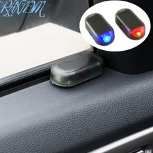 Energia solar lâmpada de alarme do carro sistema segurança aviso roubo flash para skoda rápida fabia kodiaq octavia a5 a7 superb yeti roomster