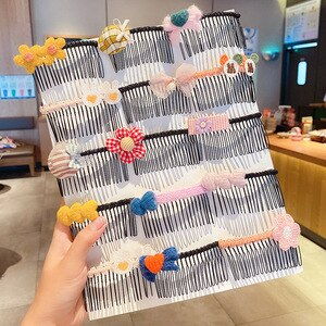 5/4/3/2 PCs/Set Lovely Cartoon Children Women Hairpin Hair Claw Sweet Flower Bowknot Claw Clip Girls Fashion Hair Accessory