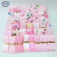 hl random 15yards 10 40mm pink series grosgrainorganzasatin ribbon diy headwear wrapping wedding christmas decor material