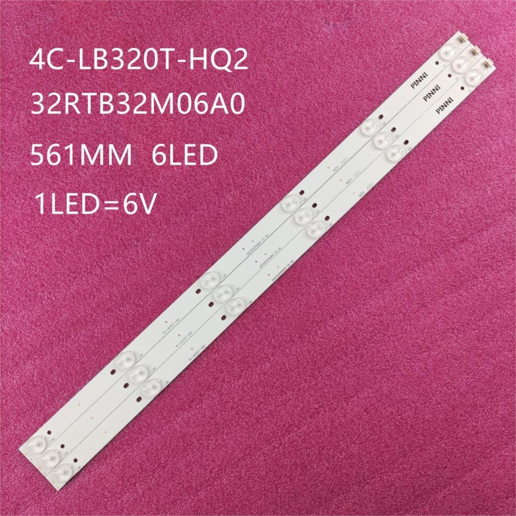 faixa de luz led para retroiluminacao 6leds embutidos para sanyo 32 display de tv