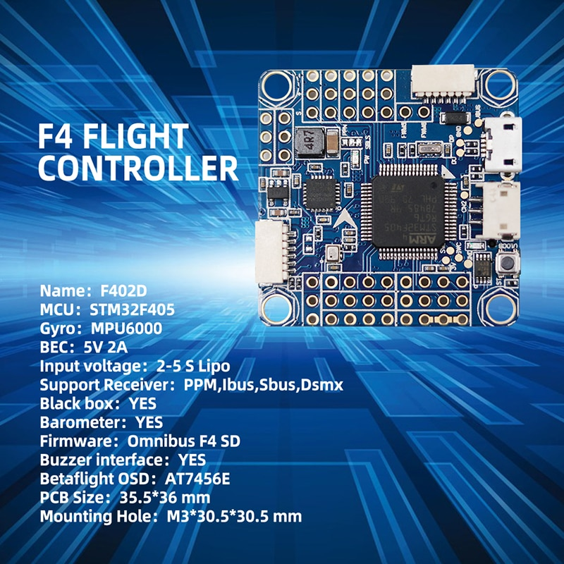 TCMMRC FPV drone frame 5 inch  XS220 drone kit wheelbase 222 mm 4 mm arm carbon fiber racing drone + F402D flight control DIY enlarge