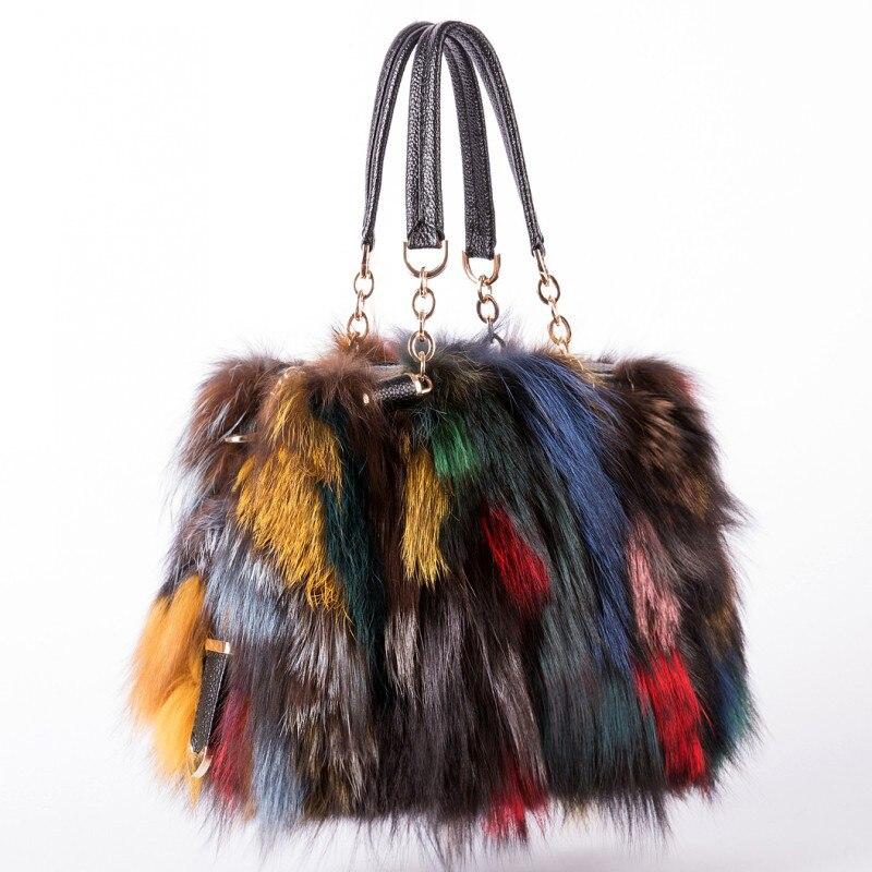 Brand Designer Designs High-Quality Fashionable Fox Fur Handbags For Women, Tote Bags