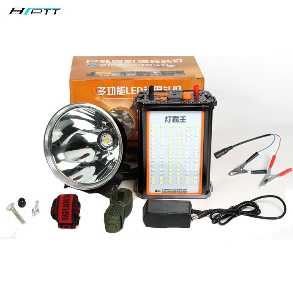 Headlight Cree xhp70.2 White and yellow light optional Built-in 24 lithium battery 12V Hunting Fishing Camping Head torch led enlarge