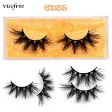 Visofree 6D Faux Mink Hair False Eyelashes Natural Long Fluffy Lashes Handmade Cruelty-free Criss-cr