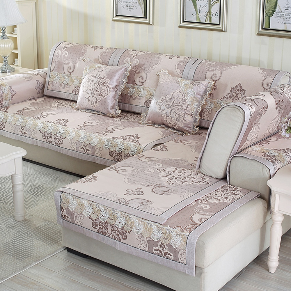 Capa de sofá antiderrapante esteiras sofá slipcover xadrez profunda capas de sofá para sala de estar rendas canto capa de sofá de jantar em casa capas de cadeira