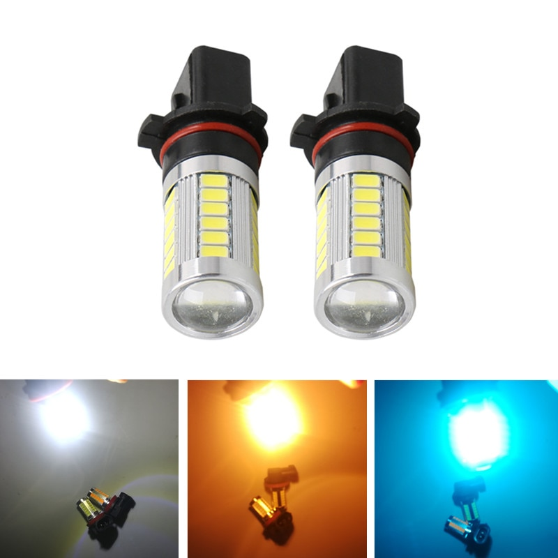 2 uds P13W bombilla LED de niebla luz corriente diurna para Skoda Audi Chevrolet Mazda Peugeot Toyota 12V DRL faros antiniebla