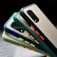 transparent matte color frame phone case on for xiaomi mi note 10 lite 5g redmi 9 9a 9c note 9 pro 9s 9pro cover 10lite casees