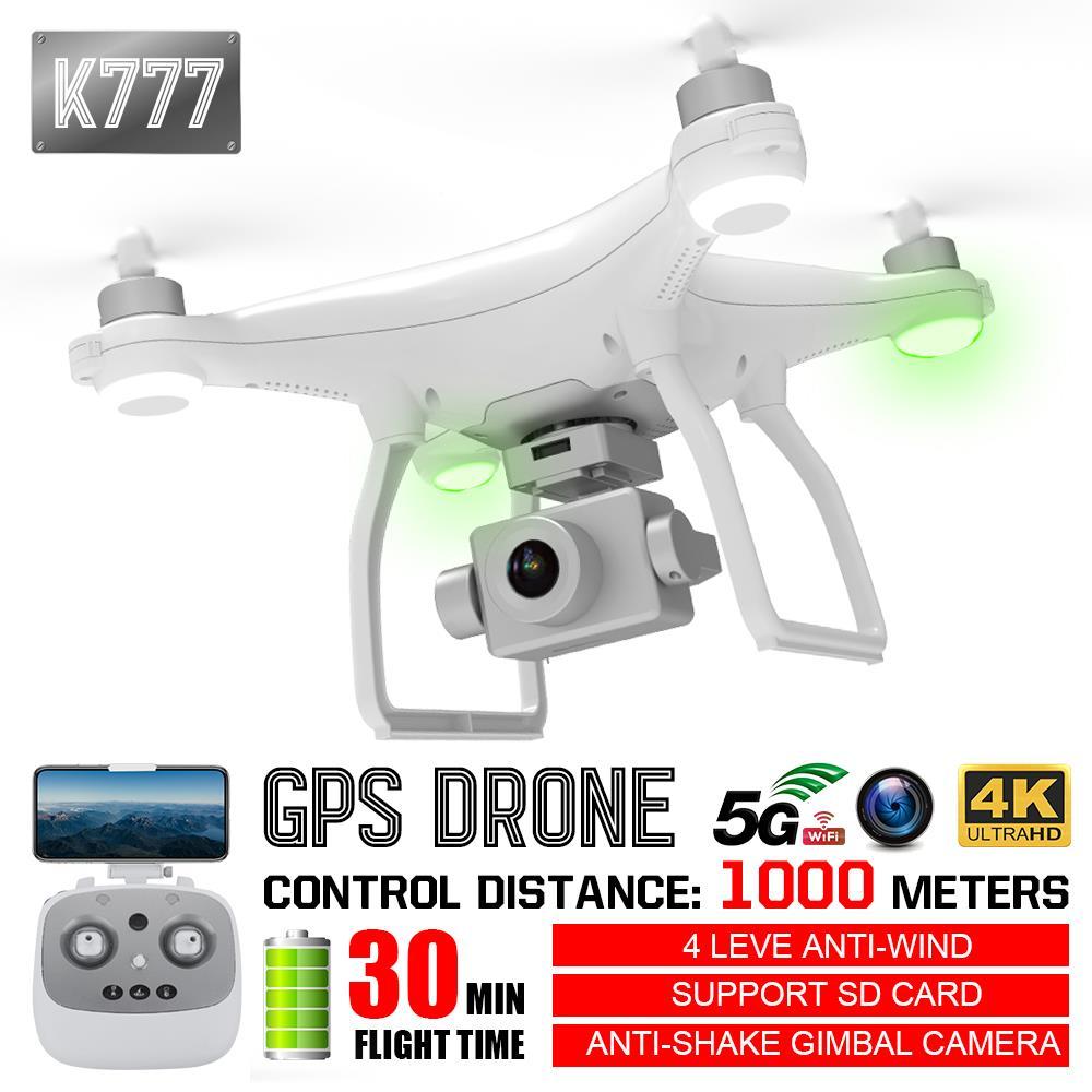2.4G 4CH 6 axes 4K aéronef sans pilote (UAV) 2.4G 4CH 6 axes 4K Drone 5G HD RC caméra longue durée Cool drôle 2.4G 4CH 6 axes 4K quadrirotor pour K777
