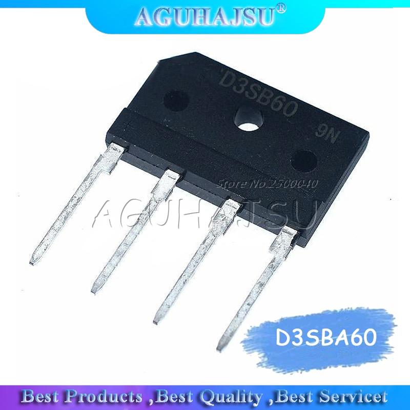 2 peças d3sba60 d3sb60 ponte retificador d3sb 60 original novo 3a600v ponte retificador monofásico